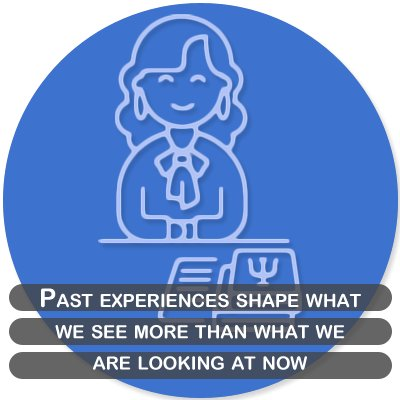 Past experiences shape what we see more than what we are looking at now